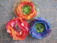 Chiffon Flowers (DIY/Tutorial)