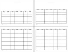 Blank Calendar Printable My Calendar Land  Words To Live By