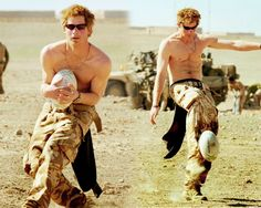 Prince Harry in the military.