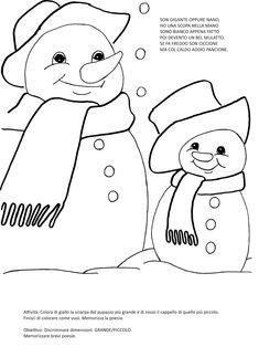 Blog scuola, Schede didattiche scuola dell'infanzia, La maestra Linda, Schede didattiche da scaricare, New Years Eve Party, Coloring Pages, Snowman, Pikachu, Dads, Snoopy, Teddy Bear, Education, Winter