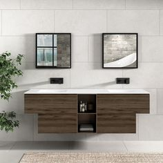 What's more stunning than a double #Corian #washbasin?