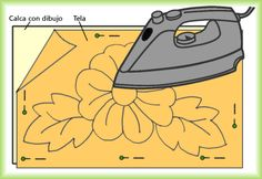 Traspasar los dibujos para bordar - Noisy Tutorial and Ideas Modern Embroidery, Hand Embroidery Designs, Cross Stitch Embroidery, Embroidery Patterns, Cross Stitch Patterns, Crochet Rug Patterns, Sewing Patterns, Spring Tutorial, Embroidery For Beginners