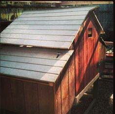 #barn style #chicken #coop made out of #reclaimed fence wood by #ReclaimedSonoma