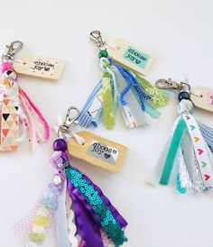 Excited to share this item from my shop: Choose Joy Tassel Keychain Diy Ribbon, Ribbon Crafts, Fabric Crafts, Paper Crafts, Cute Keychain, Tassel Keychain, Keychains, Crafts For Kids, Arts And Crafts