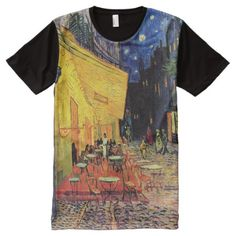 Van Gogh Cafe Terrace on Place du Forum, Fine Art All-Over-Print T-Shirt - click/tap to personalize and buy S Shirt, Shirt Style, Van Gogh, Vans Shop, Stylish Shirts, Classical Art, Your Style, Custom Design, Shirt Designs