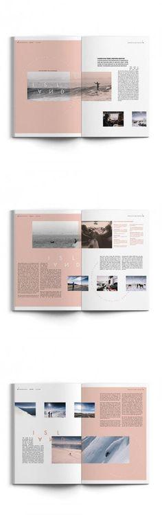 Editorial Design, Magazine Layout, Golden Ride