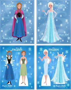 FREE Disney Frozen Paper Dolls