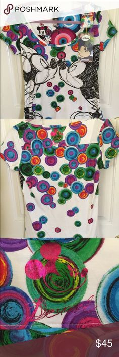 Desigual x Disney T Shirt NWT Brand new with tags and sold out everywhere!  100% cotton, made in India.  Size M. Desigual Tops Tees - Short Sleeve