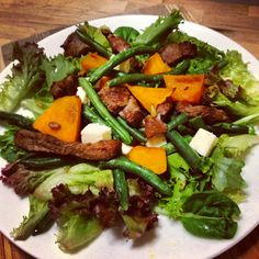 Oh yum! @12wbt Grilled Lamb with Pumpkin & Pine Nuts for dinner tonight - both @brisbanerob & I = very happy! ☺