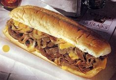 Philly Cheesesteak. Hard to find a good one locally. The best place I can think of is the mall food court - where I always get them. How to do a Philly right: 1) Make sure your onions & peppers are grilled WITH the meat. They serve to flavor the meat by grilling their juices unto the meat as it's grilling. Not raw and crunchy ruining a soft bite. 2) Be ware if the meat was pre-seasoned: bland steak is a no-no. Enjoy!
