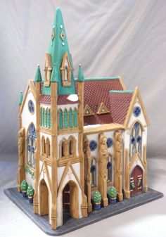 DEPT 56 ALL SAINTS CORNER CHURCH CHRISTMAS IN CITY HOLIDAY HERITAGE VILLAGE BLDG