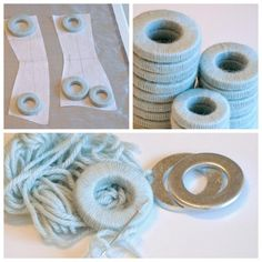 Yarn covered hardware - pattern weights!