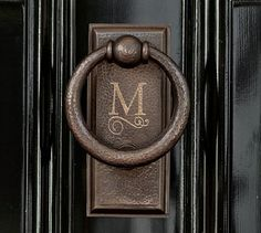 Monogrammed door knocker | Ella Door Knocker by Pottery Barn
