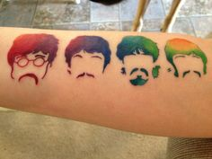 Love this Beatles tat. Color detail is sick