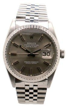 Rolex Mens Stainless Steel & 18K Gold Datejust 16014 Grey Stick Dial Men's Watch. Get the lowest price on Rolex Mens Stainless Steel & 18K Gold Datejust 16014 Grey Stick Dial Men's Watch and other fabulous designer clothing and accessories! Shop Tradesy now