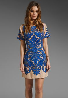 TRACY REESE RUNWAY Chestnut Formal Beading Dress in Persian Blue at Revolve Clothing - Free Shipping!