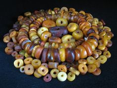 Amber feast!   Antique amber beads from Morocco.