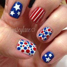 Fourth of July nail art #4thjuly