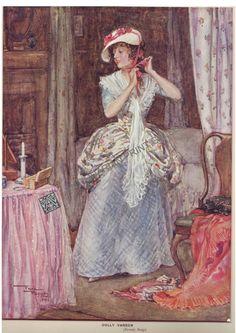 Illustrators Literature Dickens Dolly Varden Barnaby Rudge Frank Reynolds - Antiquarian Print Gallery