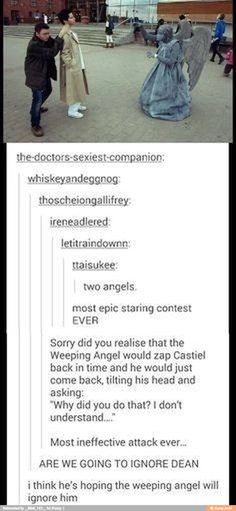 You know the weeping angel has its eyes closed, and its not even an angel...