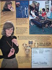 1977 Vintage Sarah Coventry Jewelry Home Party Show Color Ad