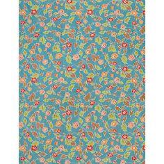Katazome Flower on Blue Fine Paper - Paper Source
