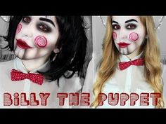 ▶ Billy The Puppet, Jigsaw Halloween Tutorial - SAW - YouTube