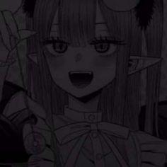 Dark Anime Girl, Manga Girl, Anime Art Girl, Anime Neko, Kawaii Anime, Anime Monochrome, Gothic Anime, Cute Anime Pics, Anime Profile