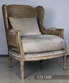 The Elise chair in Andrew Martin Montpelier Buff fabric #intede #fabric #design
