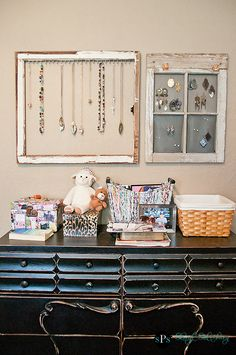 Window frame jewelry holders