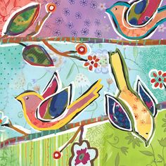 Charmed Birdies Canvas Art