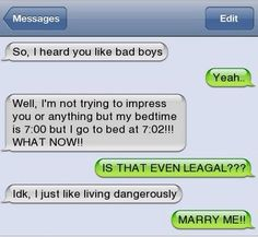 Funny text.