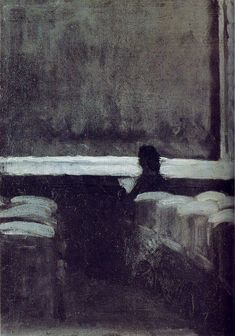 Solitary Figure in a Theater by Edward Hopper