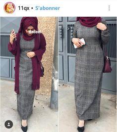 Hijab Style Dress, Casual Hijab Outfit, Hijab Chic, Islamic Fashion, Muslim Fashion, Modest Fashion, Fashion Outfits, Mode Abaya, Modele Hijab