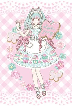 Kira Imai's lolita postcard for Angelic Pretty    <3