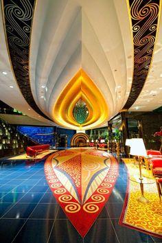 The Foyer of Burj Al Arab Hotel ~ Abu Dubai, United Arab Emirates