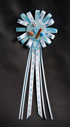 All Star Sports Baby Shower Corsage -Baby Boy Corsage- Baseball, Football, Soccer favor..... on Etsy, $17.00