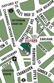 Kopapa Café and Restaurant 32-34 Monmouth Street Seven Dials, Covent Garden London WC2H 9HA turkish eggs on the menu