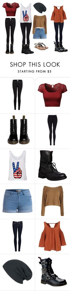 """""""OC 2 style"""" by leah-holly-walker ❤ liked on Polyvore featuring Paige Denim, Dr. Martens, Miss Selfridge, Steve Madden, Pieces, rag & bone/JEAN, Demonia and Sam Edelman"""