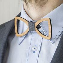Drewniana muszka, akcesoria - muszki & krawaty
