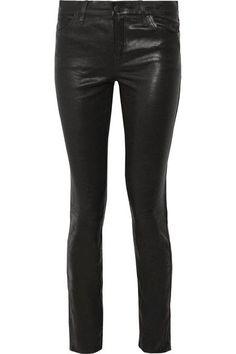 J Brand - Maude Leather Skinny Pants - Black - 30