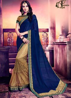Georgette Blue Saree – Designer Saree Designs