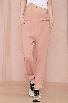 Nasty Gal Leg Up Belted Trouser - Pants | Bottoms