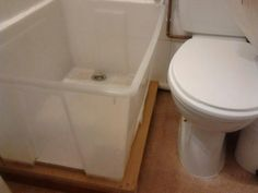 Material: SAMLA box This is a shower base created with Ikea's plastic box, SAMLA. As I did not find a regular shower base that could fit in the space I had for it, I had to create it with Ikea's box. For this, I made a wooden platform in order to elevate the box and [&hellip