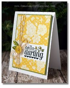 Try embossing a stamped image on top of DSP for a fun, new, customized look!