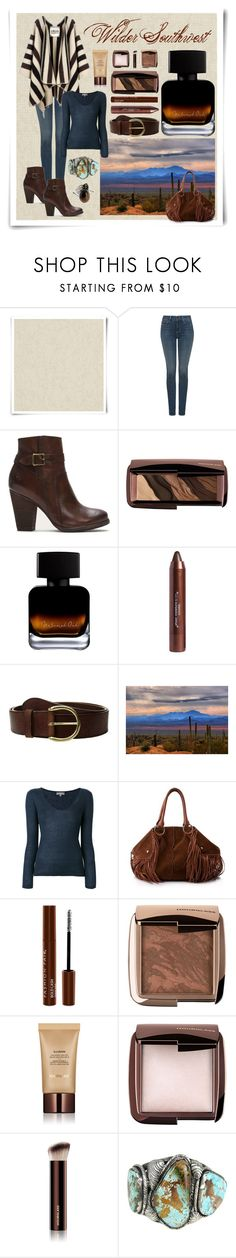 """""""Wilder Southwest:  Dusk & Denim"""" by wildersouthwest ❤ liked on Polyvore featuring Designers Guild, NYDJ, La Méricaine, Frye, Hourglass Cosmetics, N.Peal, Tod's and Fashion Fair"""