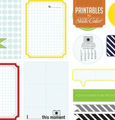 Elmwood Park Printable Journal Card & Shapes at Studio Calico
