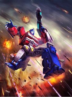 """Orion Pax , """"War for Cybertron"""" version.  He was a Librarian who was forced to take up arms to defend his friends and his world."""
