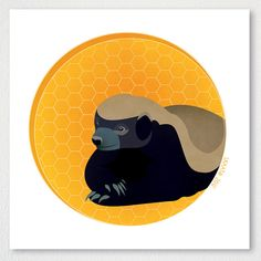 """Honey Badger"" by Red Leopard design on Etsy"