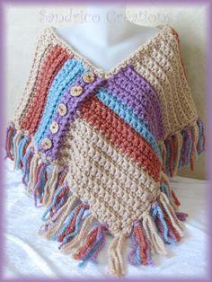 Punta tejida mano crochet botones de madera por SandricoCreations